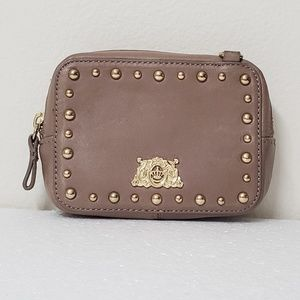 Juicy Couture Leather Pouch   Golden Studs